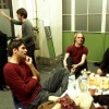 Kim, Axel, Xander, Richard en Eric, Amsterdam 15-12-2000