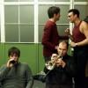 Axel, Eric, Xander en Robin van Volumia! backstage in Amsterdam 15-12-2000