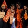 Birgit, Rene Froger, Xander en Tamara, met Froger in De Kuip Rotterdam