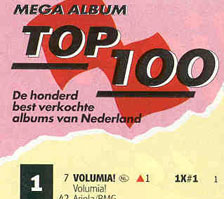 Volumia! op 1 in de Top 100 mega album