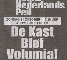 Volumia! 1ste keer Ahoy&#039; 31 oktober 1998