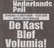 Volumia! 1ste keer Ahoy' 31 oktober 1998
