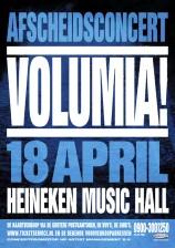 Volumia! afscheidsconcert HMH poster
